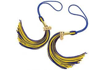 (Blue+gold) - Agltp Graduation Tassel with 2020 Year Charm Ceremonies Accessories 2 Pcs Graduation Decoration Academic Graduation Tassel Two-Coloured Graduation Cap Tassel for Unisex Graduates - Royal Blue & Gold