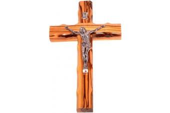 (20cm  Crucifix) - Olive Wood Cross with Crucifix (20cm high).