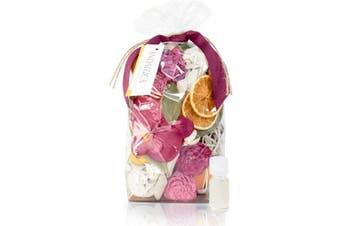 (Forbidden Flower Oasis) - ANDALUCA Forbidden Flower Oasis Scented Potpourri   Made in California   Large 590ml Bag + Fragrance Vial   Scents of Italian Bergamot, Plum, Jasmine, Rose and Lilac