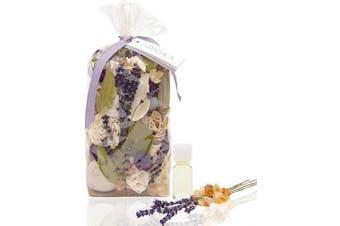 (Amber Lavender) - ANDALUCA Amber Lavender Potpourri   Large 590ml Bag + Fragrance Vial   Scents of Crushed Lavender, Crystal Amber, White Eucalyptus, Sheer Musk and Sage