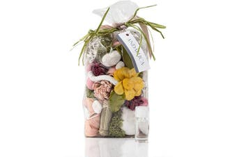 (Secrets of Spring) - ANDALUCA Secrets of Spring Scented Potpourri   Made in California   Large 590ml Bag + Fragrance Vial   Notes of Citron, Jasmine and Soft Woods   Floral Spring Home Fragrance