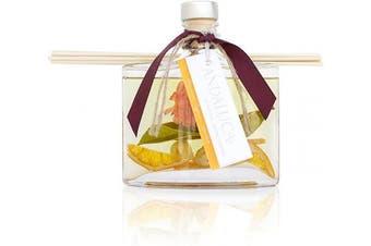 (Orange, Green) - Andaluca Forbidden Flower Oasis Botanical Reed Diffuser   160ml   Scents of Bergamot, Jasmine, Rose