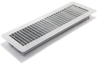 """(4"""" x 14"""") - Accord ABFRWH414 Floor Register with Louvred Design, 10cm x 36cm , White"""