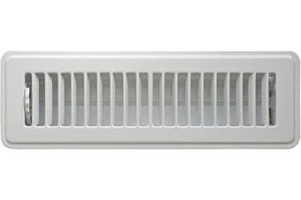 "(2"" x 10"") - Accord ABFRWH210 Floor Register with Louvred Design, 5.1cm x 25cm (Duct Opening Measurements), White"