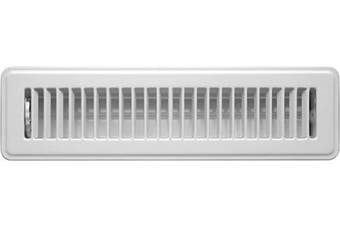 """(2"""" x 12"""") - Accord ABFRWH212 Floor Register with Louvred Design, 5.1cm x 30cm , White"""