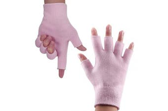(Pink) - Codream Cotton Womens Gel Moisturising Gloves Day Night Instantly Repair Eczema Dry Rough and Cracked Hands Gel Lining Infused with Essential Oils and Vitamins Pink