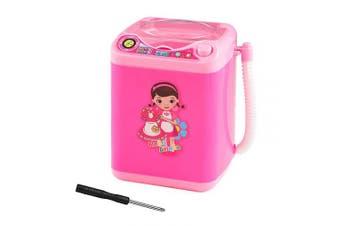 (Pink) - Lahaima Makeup Sponge Washing Machine, Deep Clean Mini Washing Machine Doll Accessories Toy on Anniversary Birthday