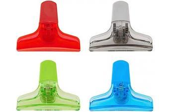 (Set of 4) - kizmos 5064318 Magnetic Multipurpose Bag Clips, Set of 4, Multicoloured