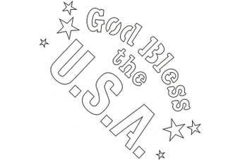 Badger Totally Tattoo Body Art Stencils God Bless The Usa-22-747