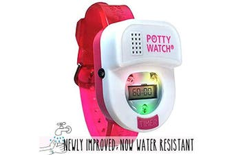 (Pink-2020 Model) - Potty Time: The Original Potty Watch | Newly Improved 2020 ~ Water Resistant | Toddler Toilet Training Aid, (Set Automatic Timers with Music for Gentle Reminders), Pink