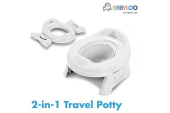 (Pure White) - Babyloo Multipurpose 2 in1 Travel Potty (Pure White)