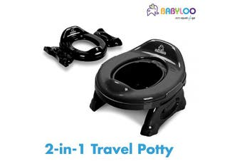 (Jet Black) - Babyloo Multipurpose 2 in1 Travel Potty (Jet Black)