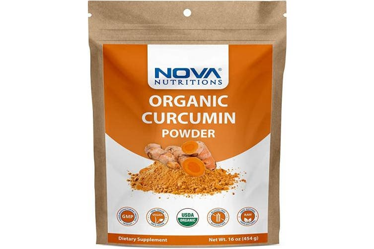 Nova Nutritions Certified Organic Turmeric Curcumin Root Powder 470ml (454 gm) - Curcuma Longa (Root)