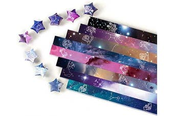 (Twelve Constellations, 1120 Sheets) - 1120 Sheets Origami Paper Stars DIY Hand Crafts Origami Lucky Star Paper Folding Origami Star Paper Strips for Paper Arts Crafts (Twelve Constellations, 1120 Sheets)