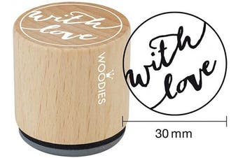 "(With Love) - WOODIES Love Themed Stamp ""With Love"", 2.5cm - 0.5cm Impression (071755)"