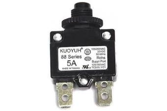 (5 Amp) - KUOYUH Circuit Breaker 88 series 125/250VAC 50/60Hz (1pc) (5A)
