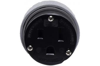 Eaton 6709N 50 Amp 250V 6-50 Power Connector, Grey & Black