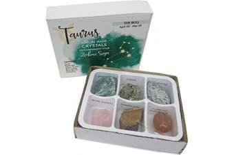 (Taurus) - Rock Paradise Horoscope Stone Box Set - Taurus Zodiac Sign – Healing Crystals Birthstone Charms – Astrology Crystal Healing Horoscope Gift