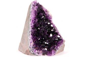 0.7kg -0.9kg, Deep Purple Amethyst) - Extreme Amethyst Cluster - 0.7-0.9kg  of Powerful, Deep Purple Crystals. Geode from Uruguay. Includes Bonus 7.6cm  Selenite Wand in Velvet Bag. - Kogan.com