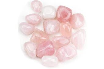 (Rose Quartz) - Cherry Tree Collection 0.2kg Tumbled Polished Stones | 1.9cm - 2.5cm Size Nuggets | Crystals for Decoration, Healing, Reiki, Chakra (Rose Quartz)
