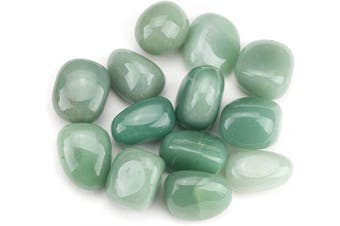 (Green Aventurine) - Cherry Tree Collection 0.2kg Tumbled Polished Stones | 1.9cm - 2.5cm Size Nuggets | Crystals for Decoration, Healing, Reiki, Chakra (Green Aventurine)