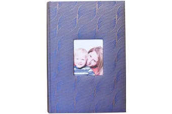 (Violet Blue) - AITIME Silk Fabric Cover Photo Album for 300 4x6 Pictures Pockets with Memo, Photography Book Picture Album for Family Wedding Anniversary Vocation Baby School Photos (Violet Blue)