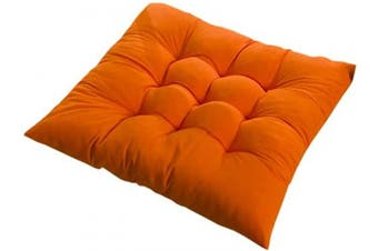 (1PC, Orange) - PICTURESQUE Soft Orange Seat Pads for Dining Chair 40x40cm Cushion