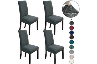 (4, Dark Grey) - NORTHERN BROTHERS Dining Chair Covers Stretch Chair Covers Parsons Chair Slipcover Chair Covers for Dining Room Set of 4,Dark Grey