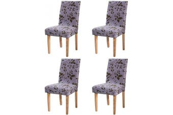 (Style 12) - Ogrmar 4PCS Stretch Removable Washable Dining Room Chair Protector Slipcovers/Home Decor Dining Room Seat Cover Multiple Styles (Style 12)