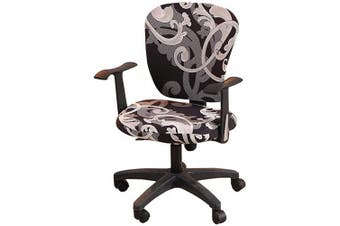 (3(royal Circle)) - wonderfulwu Stretch Chair Covers Spandex Office Computer Chair Cover Removable Washable Rotate Swivel Chair Protective Covers, Royal Circle