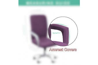 (Armrest Cover-45cm , Light Purple) - WOMACO Waterproof Office Chair Cover, Computer Office Chair Covers Water-Repellent Universal Boss Chair Covers Modern Simplism Style High Back Chair Slipcover (Light Purple, Armrest Covers)