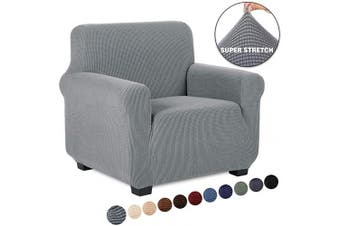 (1 Piece, Chair, Light Gray) - TIANSHU Armchair Cover, Sofa Cover for Armchair,1 Cushion Chair Cover for Pet, Soft/Durable/Stay in Place Furniture Slipcover (Chair, Light Grey)