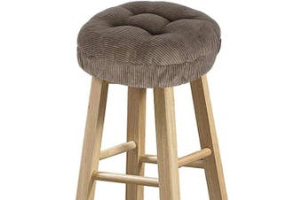 "(12"" (30 cm), Corduroy Brown) - baibu Stool Covers Round, Super Soft Corduroy Round Bar Stool Cushion Covers Seat Cushion - Cushion Only (Brown, 12"" (30 cm))"