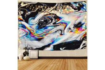 (130cm  x 150cm , Multicolor) - Alishomtll Colourful Gouache Tapestry Psychedelic Art Tapestry Marble Swirl Tapestries Natural Landscape Trippy Tapestry for Room (Multi, 130cm x 150cm )
