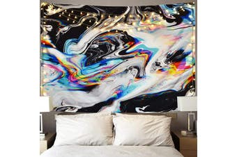 (150cm  x 150cm , Multicolor) - Alishomtll Colourful Gouache Tapestry Psychedelic Art Tapestry Marble Swirl Tapestries Natural Landscape Trippy Tapestry for Room (Multi, 150cm x 150cm )