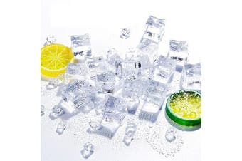 Anyumocz 50 Pcs 20mm Clear Fake Ice Acrylic Decorative Ice Cubes Display for Home Decoration Wedding Centrepiece Vase Fillers,Photography Props & Kitchen Decoration