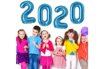 (Color 8: Blue) - 2020 Balloons Blue Number Balloons for 2020 Graduation Balloon Decorations New Year Eve Festival Party Supplies, 100cm