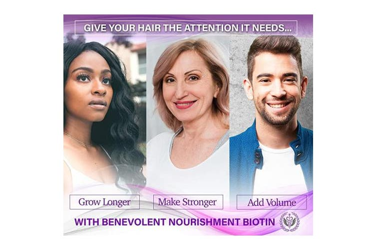 (15,000 mcg) - Benevolent Liquid Biotin 15000 mcg - Infused with Coconut Oil for 5X Absorption, Non-GMO & Vegan Friendly Biotin for Hair Growth Glowing Skin and Strong Nails, Hair Growth Products, Biotin Supplement