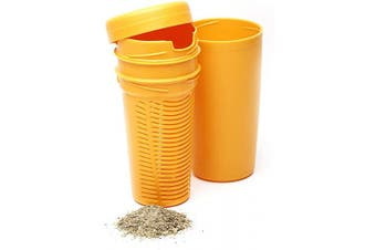 (Yellow) - BALIBETOV Premium Yerba Mate Dust Remover I Mate Gourd Cup Accessory reduces bitterness and acidity (Yellow)