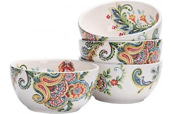 (Protea-Cynaroides) - Bico Protea Cynaroides Ceramic Cereal Bowls Set of 4, 770ml, for Pasta, Salad, Cereal, Soup & Microwave & Dishwasher Safe
