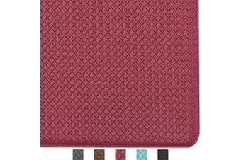 (150cm  x 46cm , Rust Red) - Colour & Geometry Kitchen Rug Non Skid Waterproof Kitchen Mats Cushioned Anti Fatigue Standing Mat 150cm x 46cm Rust Red