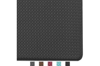 (150cm  x 46cm , Black) - Colour & Geometry Kitchen Rug Non Skid Waterproof Kitchen mats Cushioned Anti Fatigue Standing Mat 150cm x 46cm Black