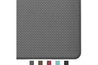 (200cm  x 46cm , Grey) - Colour & Geometry Kitchen Rug Non Skid Waterproof Kitchen mats Cushioned Anti Fatigue Standing Mat 200cm x 46cm Grey