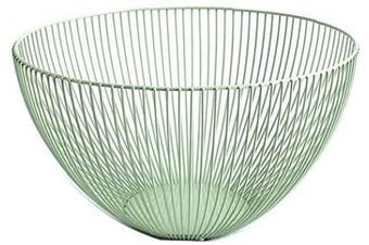 (Green) - Metal Wire Fruit Basket,Large Round Storage Baskets for Bread,Fruit,Snacks,Candy,Households Items.Fashion Fruit Bowl Decorate Living Room, Kitchen, Countertop,Green By Cq acrylic