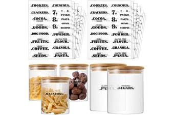 Outus 306 Pieces Pantry Labels, Preprinted Farmhouse Definitions Pantry Stickers Label Clear Water-Resistant for Kitchen Food Jar Container Label, Include 44 Blank Sticker Labels