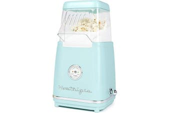 (Unit) - Nostalgia CLHAP12AQ Classic Retro Healthy Hot-Air Tabletop Popcorn Maker, Makes 12 Cups, with Kernel Measuring Scoop, Oil Free, Perfect for Birthday Parties, Movie Nights, Aqua