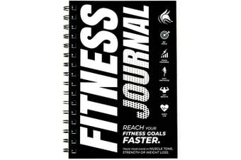 (Black and White) - Clever Fox Fitness & Workout Journal/Planner Daily Exercise Log Book to Track Your Lifts, Cardio, Body Weight Tracker - Spiral-Bound, Laminated Cover, Thick Pages, A5