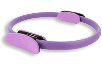 (Purple) - Xiaoai Pilates Ring Magic Circle and Resistance Exercise Fitness Ring for Toning & Sculpting Inner & Outer Thighs
