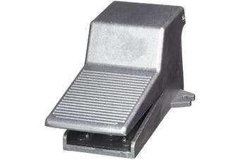 COMOK 0.6cm NPT Nonslip Momentary Pneumatic Foot Pedal Valve Air Switch, 2 Position 3 Way, Grey