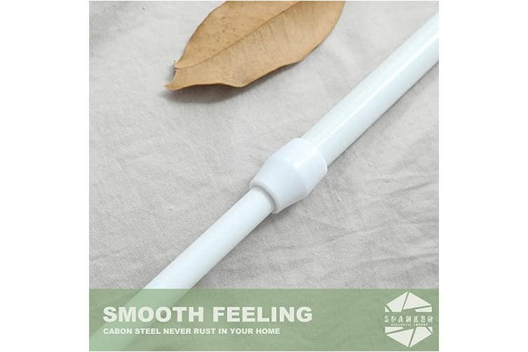 Spanker Adjustable Spring Tension Rod 50cm x 90cm Extendable for Doorway Curtains (White)